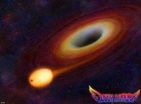 38亿光年外大质量黑洞撕裂恒星