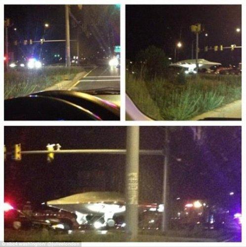 美国华盛顿空军高速公路运走疑似ufo(高清视频)