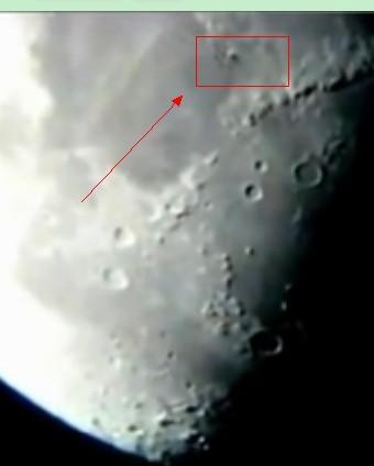拍巨大黑色UFO飞越月球表面高清ufo视频