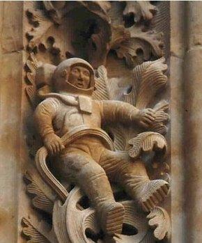 西班牙1100年前教堂发现神秘太空人浮雕(组图)