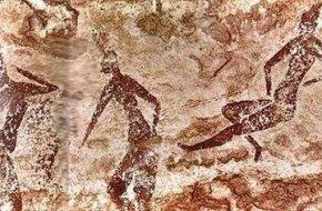 非洲撒哈拉沙摸神秘的岩画