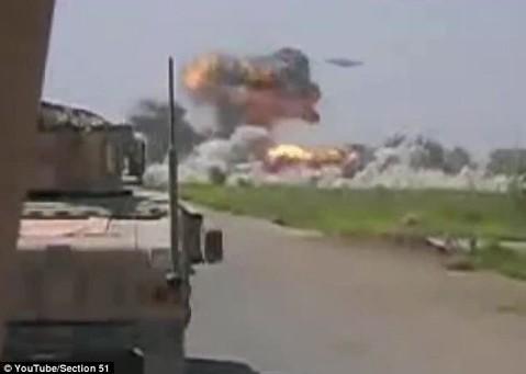 美士兵拍摄ufo轰炸塔利班视频,证实为后期处理