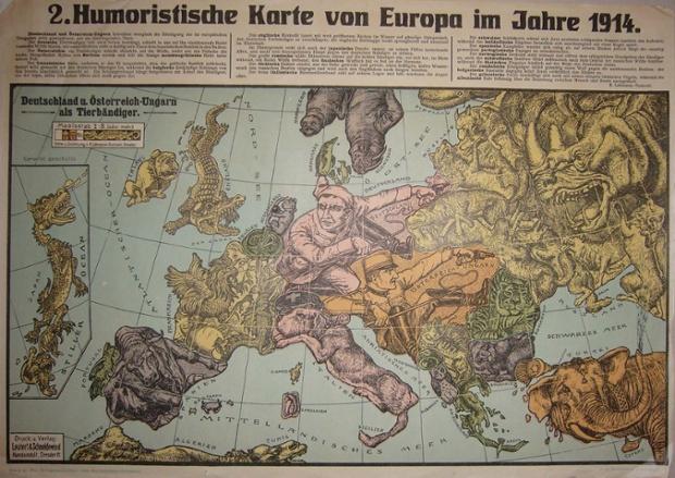 杜蒙绘制的两幅地图之一
