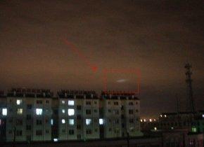山东滨州,夜空惊现疑似UFO