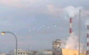 日本大阪上空现10个UFO
