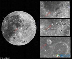 """月球发现神秘""""尖塔"""" 专家称仅是陨坑阴影"""