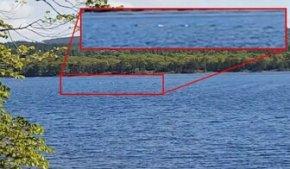 尼斯湖湖面拍摄到连续圆形隆起物