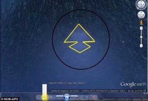 谷歌地图定位海底金字塔外星人基地