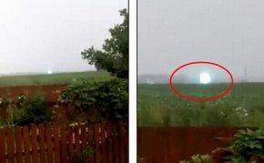 俄罗斯现罕见球状闪电