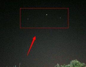 济南泉城广场附近抓拍到3个不明飞行物