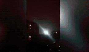 俄罗斯疑似UFO的物体白光的球状物