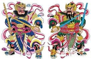 中国各朝贴门神传统以及贴门神的来历