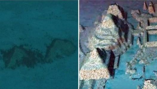 Google拍到2座金字塔,百慕大三角海床现完美三边