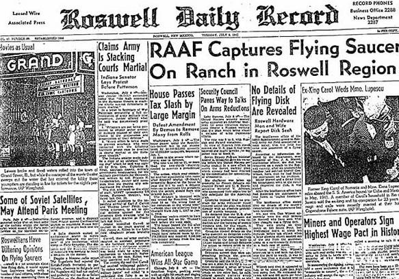 """""""外星人真实存在""""罗斯威尔飞碟事件当时警长爆料"""