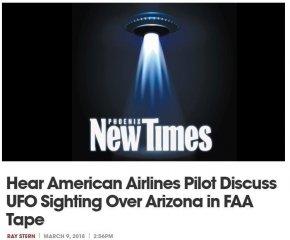 2名飞行员撞见幽浮美国联邦航空总署公布录音档