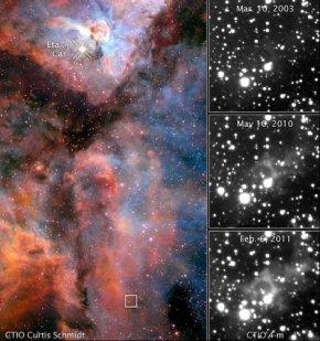光回波技术再现170年前恒星大喷发画面(图)
